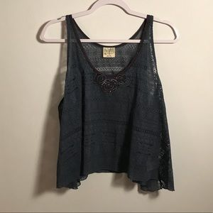 Free People | lace sequin tank S